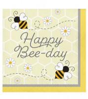 """Servietten """"Kleine Biene"""" - Happy Bee-Day - 16 Stück"""