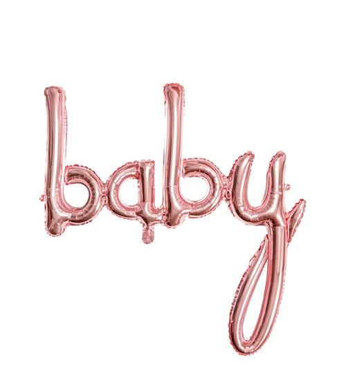"Script-Folienballon ""Baby"" - rosegold - 74 x 76 cm"
