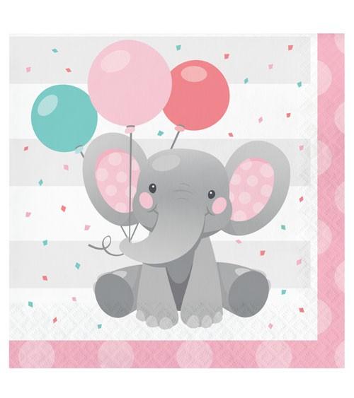 """Servietten """"Little Elephant - Girl"""" - 16 Stück"""