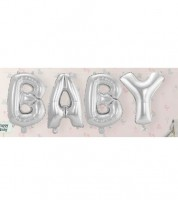 "Folienballon-Set ""BABY"" - silber - 36 cm"