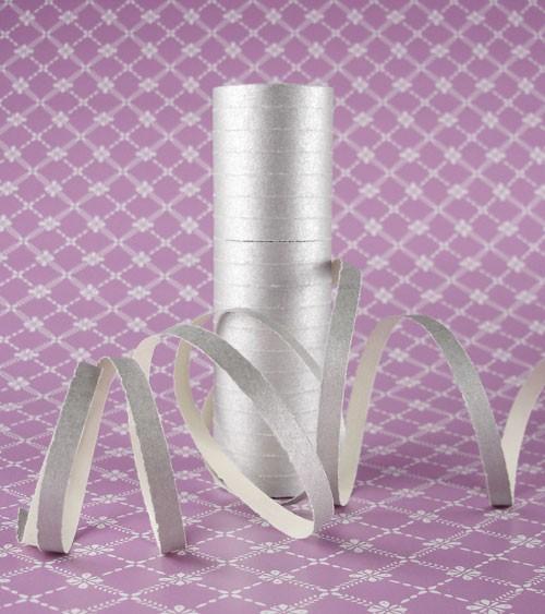 Papierluftschlange - silber