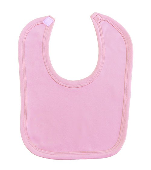 Baby-Lätzchen aus Baumwolle - rosa - 6 Stück