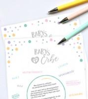 "Spielekarten ""Babys Erbe"" - 10 Stück"