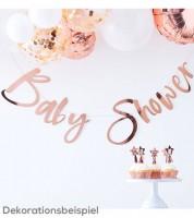 Baby Shower Girlande - rosegold - 1,5 m
