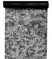 Tischläufer in Metallic-Netzoptik - schwarz - 28 cm x 5 m