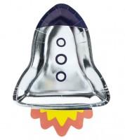 Raketen-Pappteller - 6 Stück