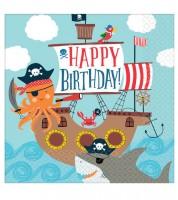 """Servietten """"Ahoy Birthday"""" - 16 Stück"""