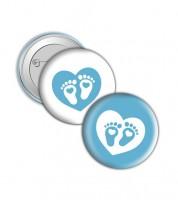 "Button ""Babyfüßchen"" - hellblau"