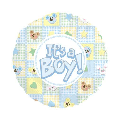 "Runder Folienballon ""It's a Boy!"""