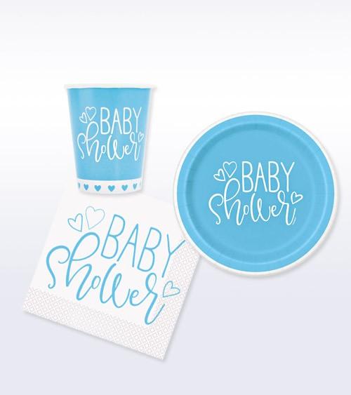 "Deko-Set ""Baby Shower"" - blau - 32-teilig"