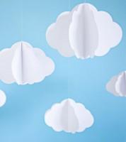 """DIY 3D-Hängedekoration """"Wolken"""" - 3-teilig"""