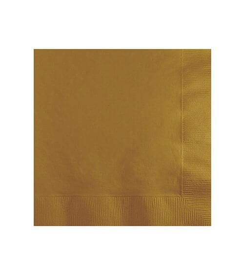 Cocktail-Servietten - shimmering gold - 50 Stück