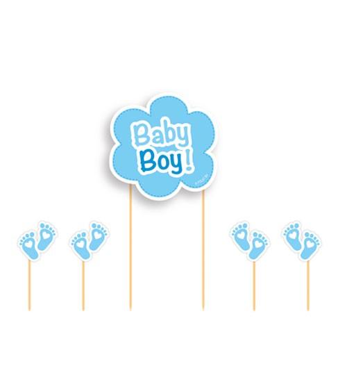 "Cake-Topper-Set ""Baby Boy"" - 5-teilig"