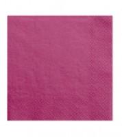 Servietten - dark pink - 20 Stück