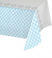 """Kunststoff-Tischdecke """"Kleiner Elefant - hellblau"""" - 137 x 259 cm"""