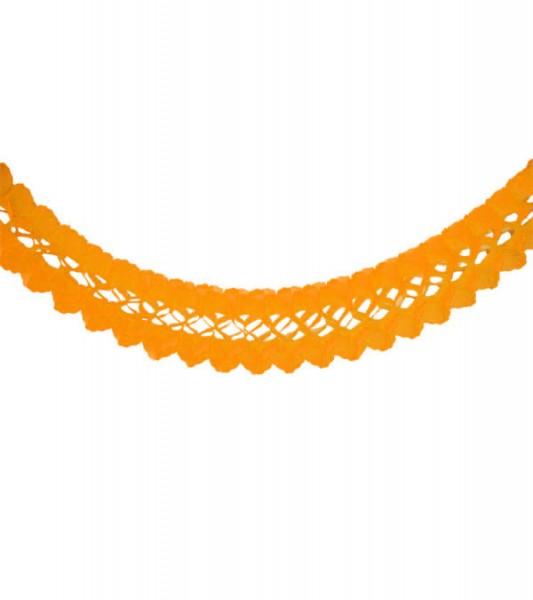 Seidenpapiergirlande - orange - 4 m