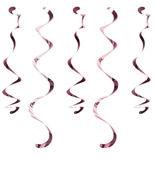 Spiralgirlanden - rosegold - 10 Stück