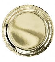 Pappteller - metallic gold - 6 Stück