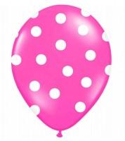 """Luftballons """"Big Dots"""" - pink - 6 Stück"""
