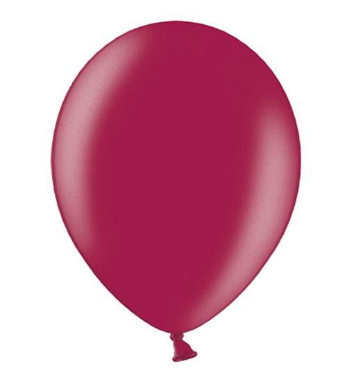 Metallic-Luftballons - maroon - 50 Stück