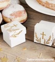 Gastgeschenkboxen mit goldenem Kreuz - 10 Stück