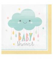 """Servietten """"Kleine Wolke"""" - Baby Shower - 16 Stück"""