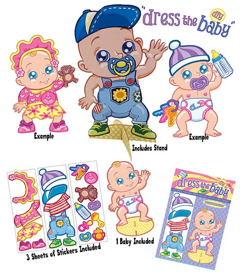 """Babyparty-Spiel """"Babys erstes Outfit"""" - 3-teilig"""