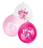 "Luftballon-Set ""Birthday Girl"" - pink/rosa/weiß - 10 Stück"