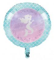 "Runder Folienballon ""Mermaid Shine"" - 46 cm"