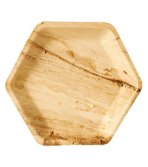 "Palmblatt-Teller ""Pure"" - 6-eckig - 23,5 cm - 25 Stück"