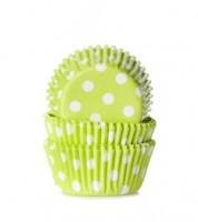 "60 Mini-Muffinförmchen ""Big Dots"" - hellgrün"