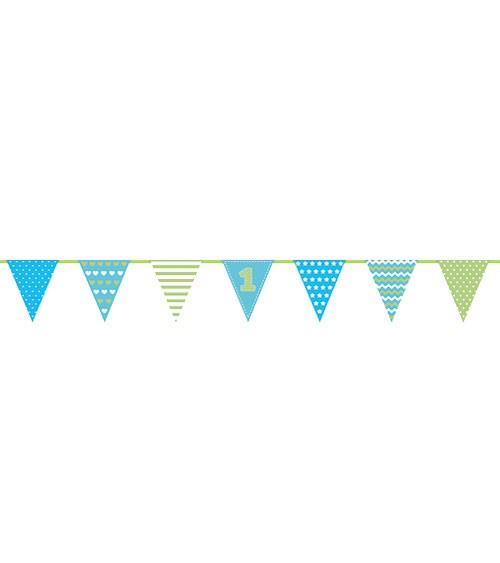 Wimpelkette erster Jungen-Geburtstag