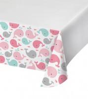 "Kunststoff-Tischdecke ""Baby Wal - Rosa"" - 137 x 259 cm"