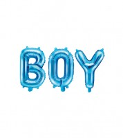 "Folienballon-Set ""BOY"" - blau - 35 cm"
