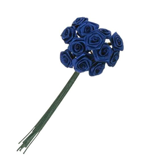 Satinröschen - dunkelblau