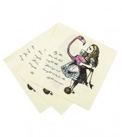 """Servietten """"Alice im Wunderland"""" - Flamingo - 20 Stück"""