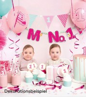 "Party-Deko-Set ""I'm No.1 - pink"" - 42-teilig"