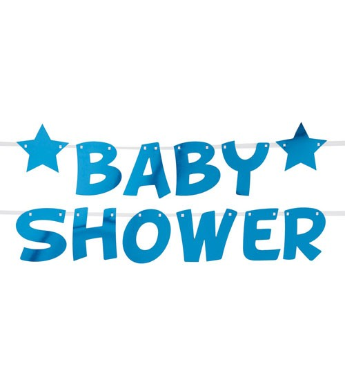 """DIY Baby Shower-Schriftzuggirlande """"Little Star Blue"""" - 2,5 m"""