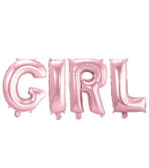 "Folienballon-Set ""GIRL"" - rosa - 36 cm"