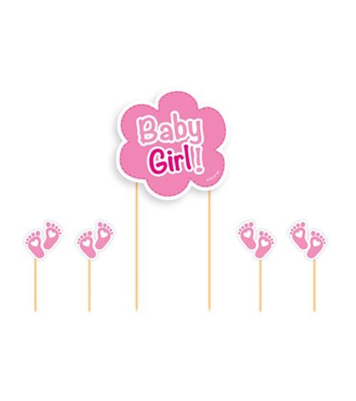 """Cake-Topper-Set """"Baby Girl"""" - 5-teilig"""