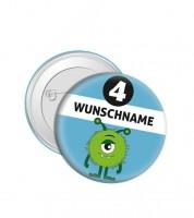 """Dein Button """"Monster"""" - Wunschtext"""