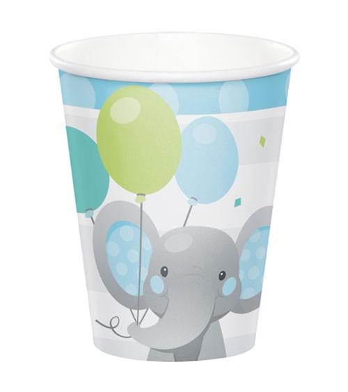 """Pappbecher """"Little Elephant - Boy"""" - 8 Stück"""