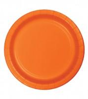 Pappteller - orange - 24 Stück