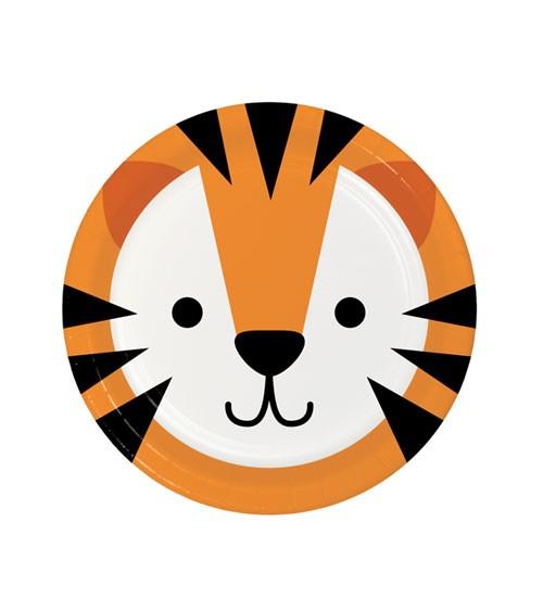 """Kleine Pappteller """"Animal Faces"""" - Tiger - 8 Stück"""