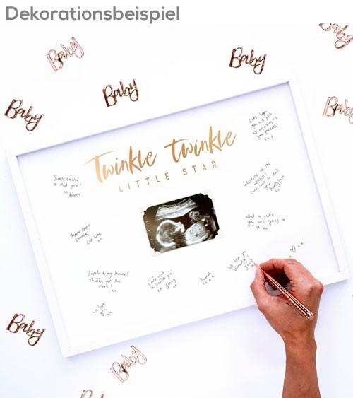 """Bilderrahmen-Gästebuch """"Twinkle Twinkle"""" - 32 x 44 cm"""