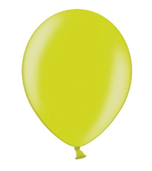 Metallic-Luftballons - limegreen - 50 Stück