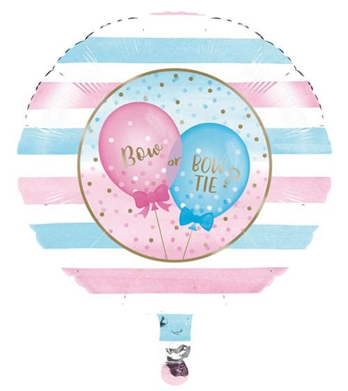 "Runder Folienballon ""Girl or Boy?"" - 46 cm"