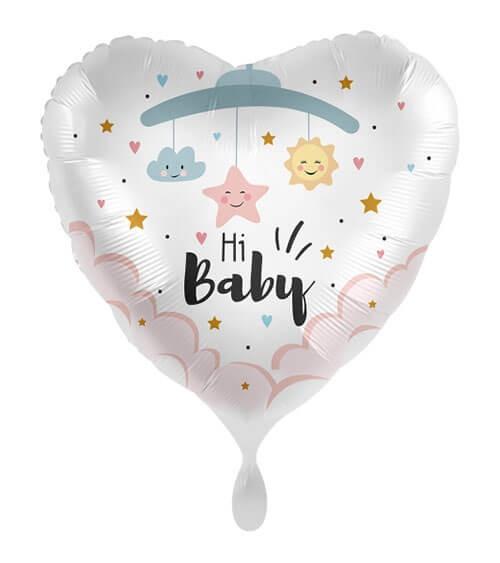 """Herz-Folienballon """"Hi Baby"""" - 43 cm"""