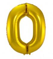 "SuperShape Folienballon ""0"" - gold"