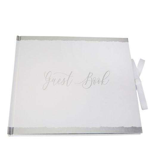 "Gästebuch ""Dipped in Silver"" - 22 x 19,2 cm"